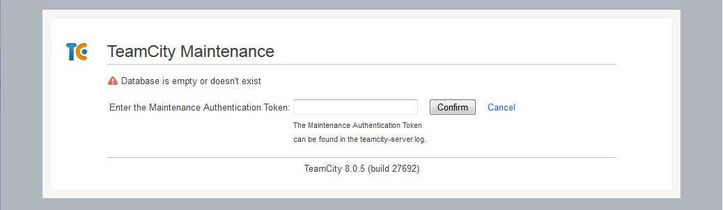 TeamCity Database Error