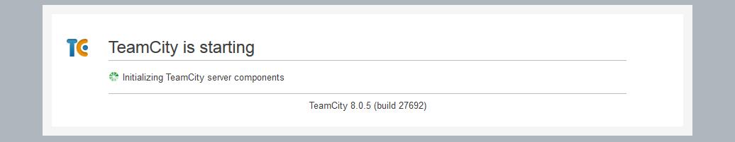 TeamCity Initializing